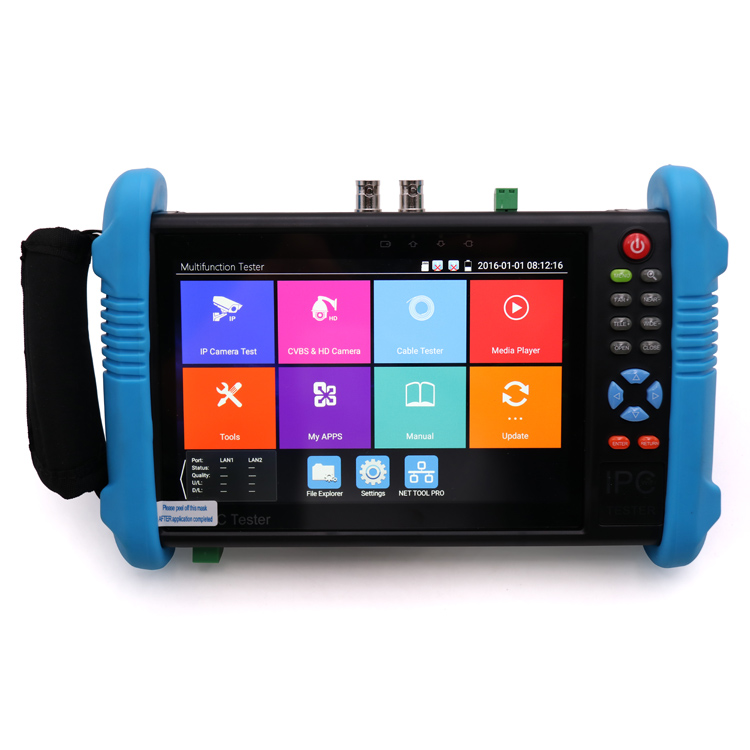 All in one Full hd ip camera ipc cctv cable tester with 7 inch IPS touch monitor