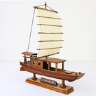 Chinese art and craft The Yangtze river civilian wooden boat model for souvenir