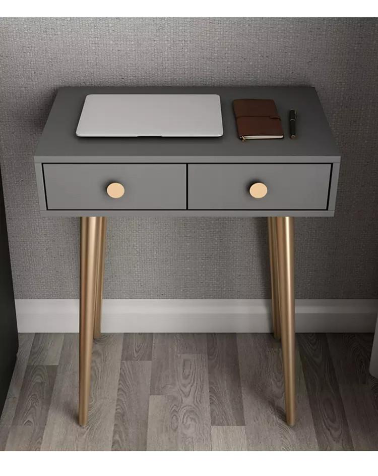 Simple bedroom iron art light luxury style 60CM post-modern small dresser