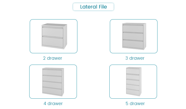 Office Furniture Modern Inter Lock Laterla File 2 Drawers Steel Lateral Filing Cabinet