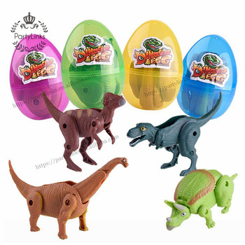 Dinosaur Party Toys Filled Easter Eggs Deformed Dinosaur Egg Collection For Kids Party