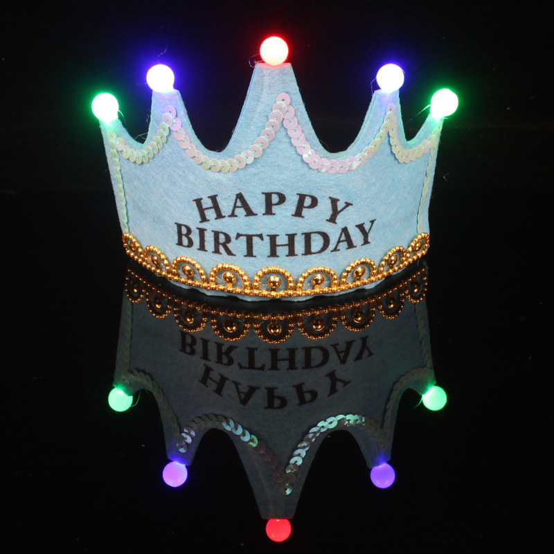 hotsale princess kind birthday party LED light crown hat