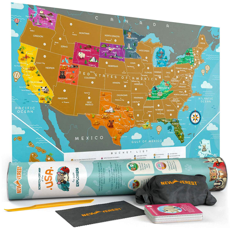 Posto Siamo stati Mappa Stampata Flessibile di Plastica Scratch Off Mappa Del Mondo Poster Scratch off USA Mappa