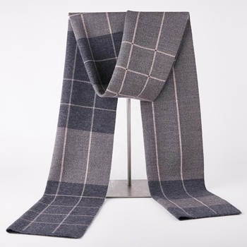 New arrival Korea style tartan plaid pattern high quality wool knitted scarf