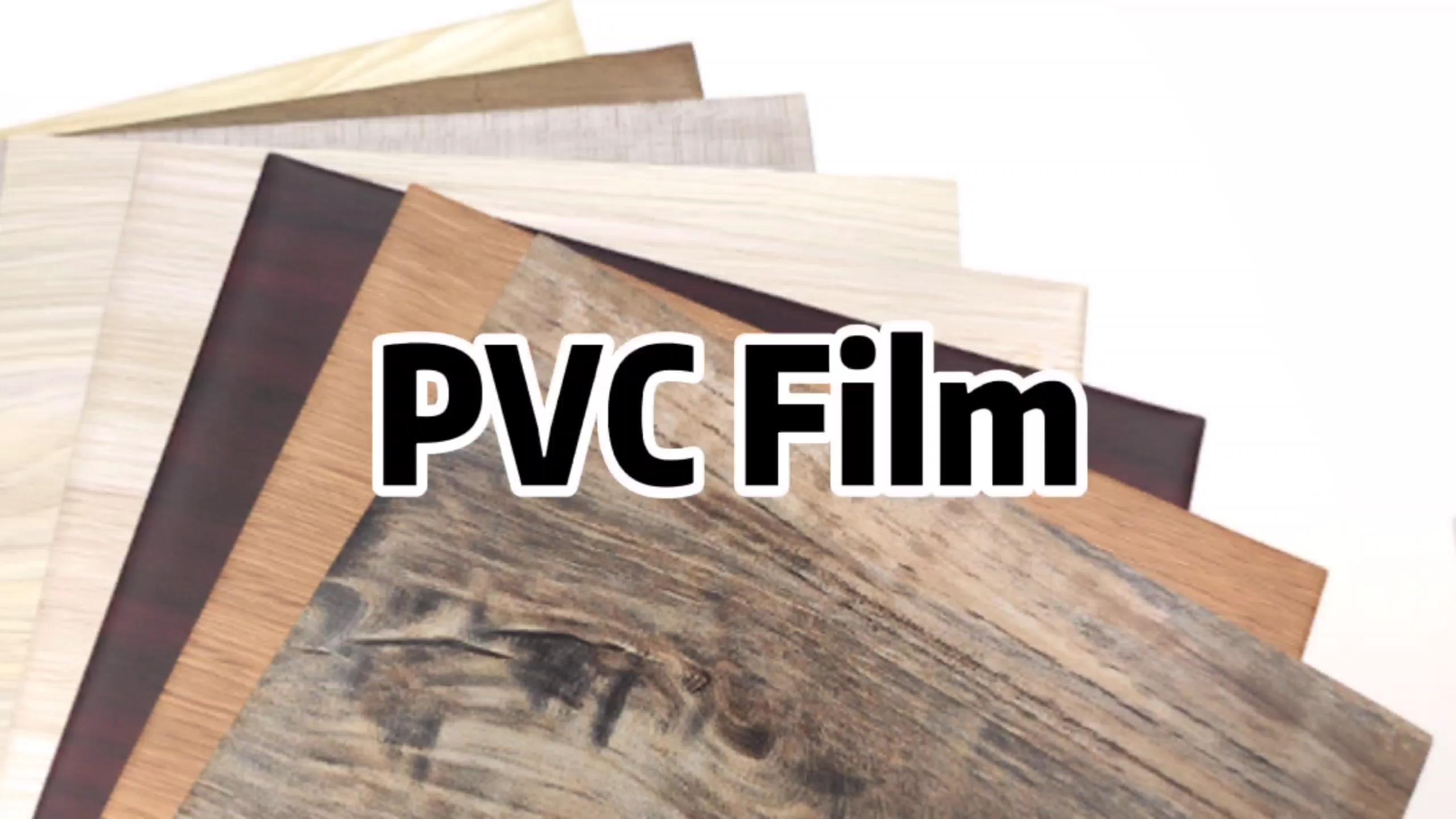 TOCO कारखाने लकड़ी अनाज पीवीसी प्लास्टिक पन्नी टुकड़े टुकड़े के लिए लपेटें फर्नीचर