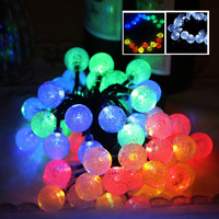 Online Shipping Waterproof led Lighting Laser Christmas Solar Light Bulb String Decoration Lights