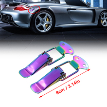 Volledige Neo Chrome Motorkap Clip JDM Lock Clip Kits Bumper Quick <span class=keywords><strong>Release</strong></span>