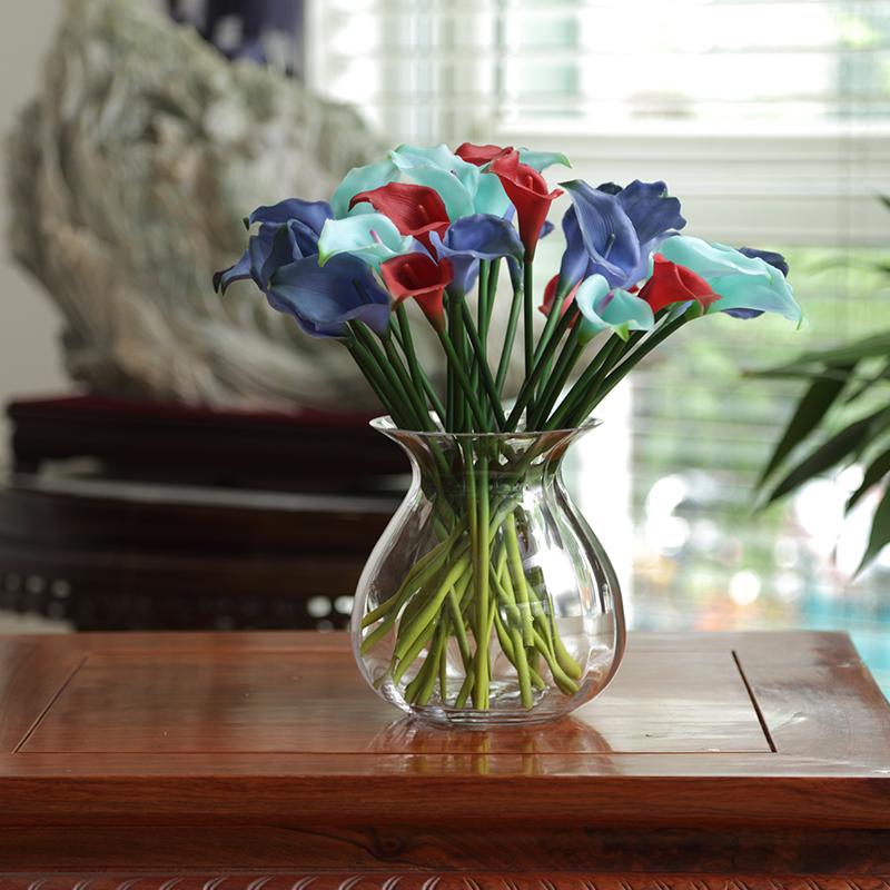 Moderne Keramik-Vase Silber lackiert kegelf/örmig Hochzeit Dekoration Blumenvase