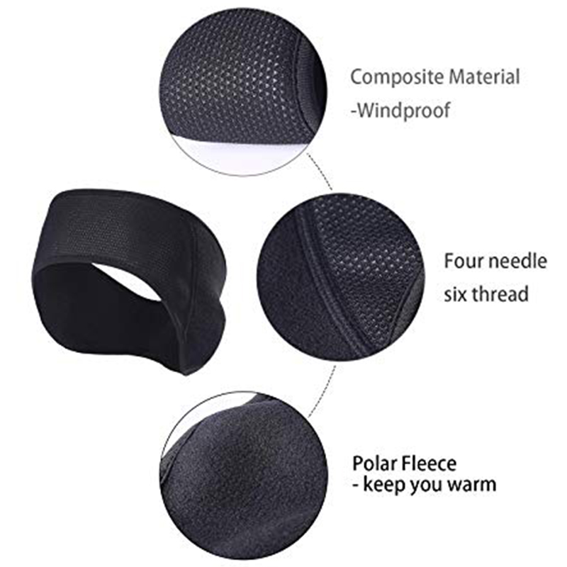 Ear Warmers Headband Winter Black Band Earmuffs Ski Mask