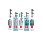 BKCC05 water filling machine spare parts/liquid filling nozzle valve cng bottle