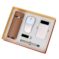 Anniversary Gift 304 Stainless Steel Vacuum Flask Practical Electronic Corporate Business Gift Set