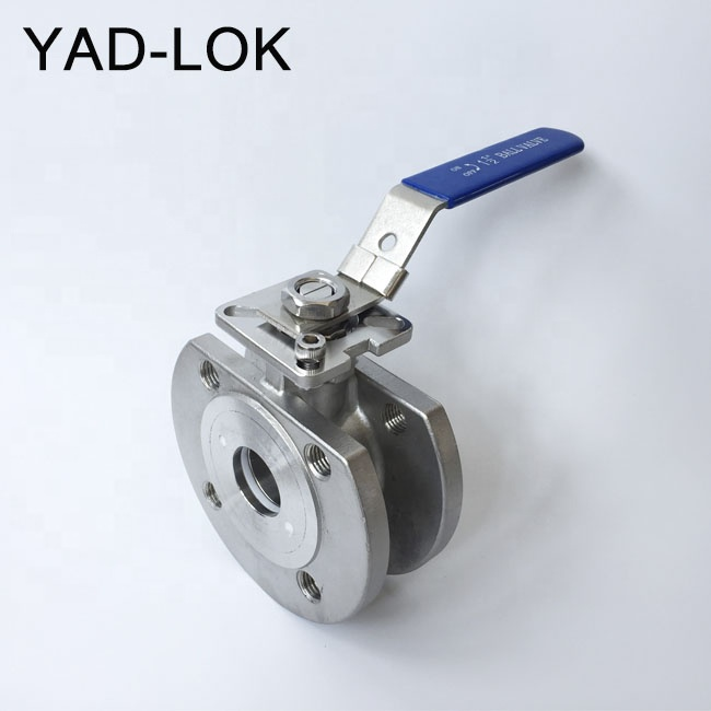 Stainless Steel PN16 ISO Plat Wafer Type Flange Ball Valve