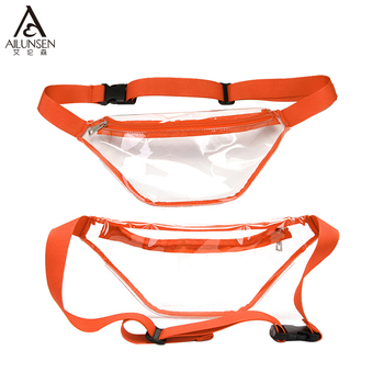 2019 Best Selling Colourful Transparent PVC Fanny Pack Waist Bags