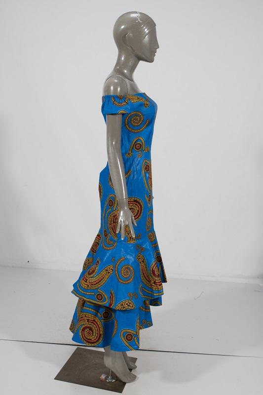 WY2205 vente en gros traditionnel africain cire impression robes pour femmes Bazin Riche coton robe de fête Dashiki Sexy vêtements de fête