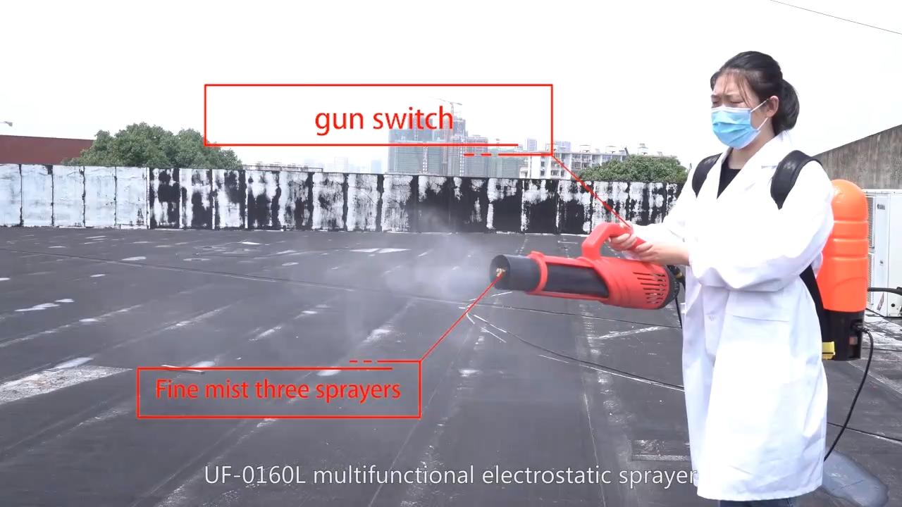 Machine de brumisation électrostatique à piles de 16l, sans fil, professionnelle, brumisateur, UlV, Agriculture, produits chimiques