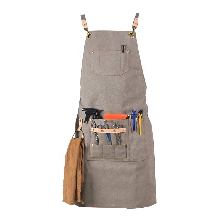 AFTAYWTA039 Hair Salon Kitchen Aprons Sale Heavy Industry Practical Canvas Apron
