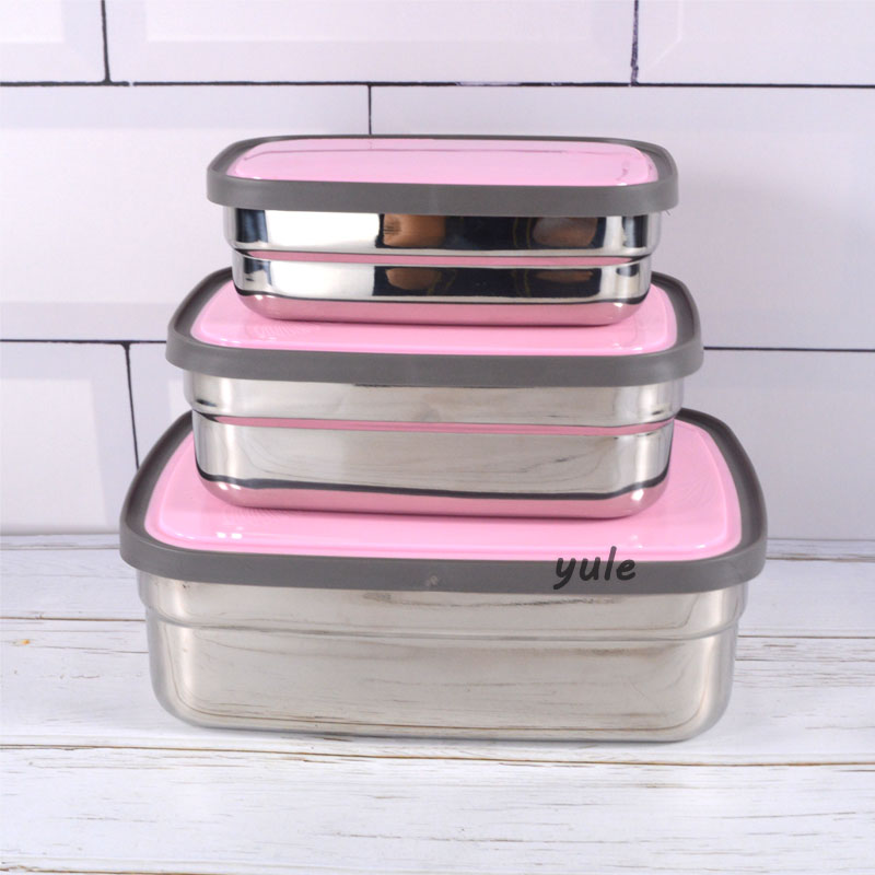 Premium 3 sizes Stainless Steel Kids lunch box for Food container
