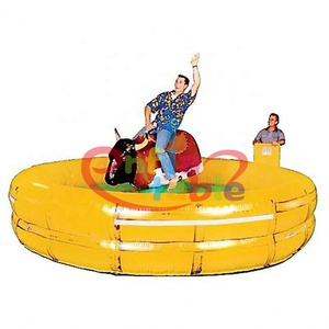 amusement park Mechanical rodeo bull rides inflatable rock bull