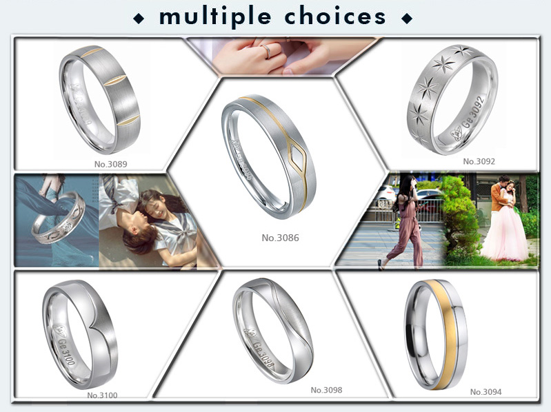 Best Selling Products Simple ring Designs 316L Stainless Steel Wedding Rings for Men Women