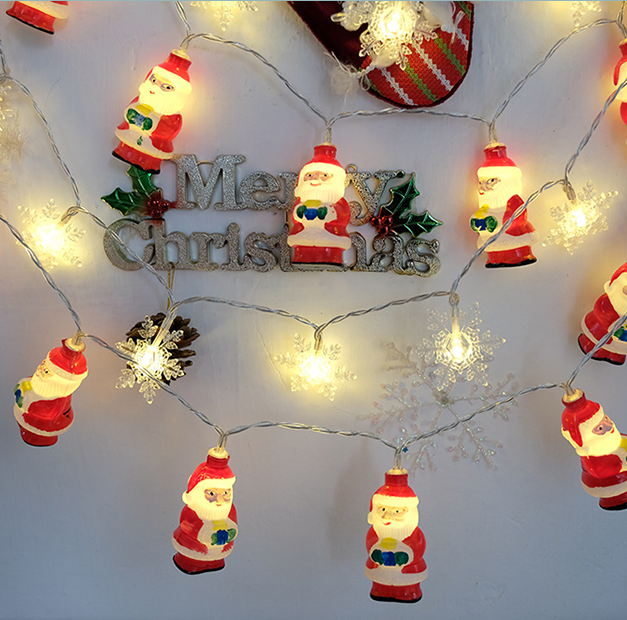 Christmas Decoration Snowflake String Santa Claus String Lights Christmas Tree Lights Outdoor Garden Christmas Led Lights