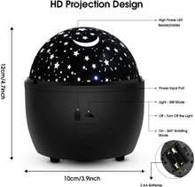СВЕТОДИОДНАЯ Лампа для проектора звездное небо, ночник, вращающаяся настольная лампа для спальни, лампа для вечеринки, Декор, подарок для де...(Китай)