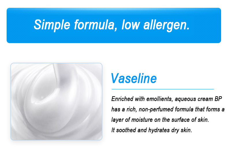 No greasy formula aqueous cream bp 500g moisture restore softness ingreduents aqueous cream for dry skin