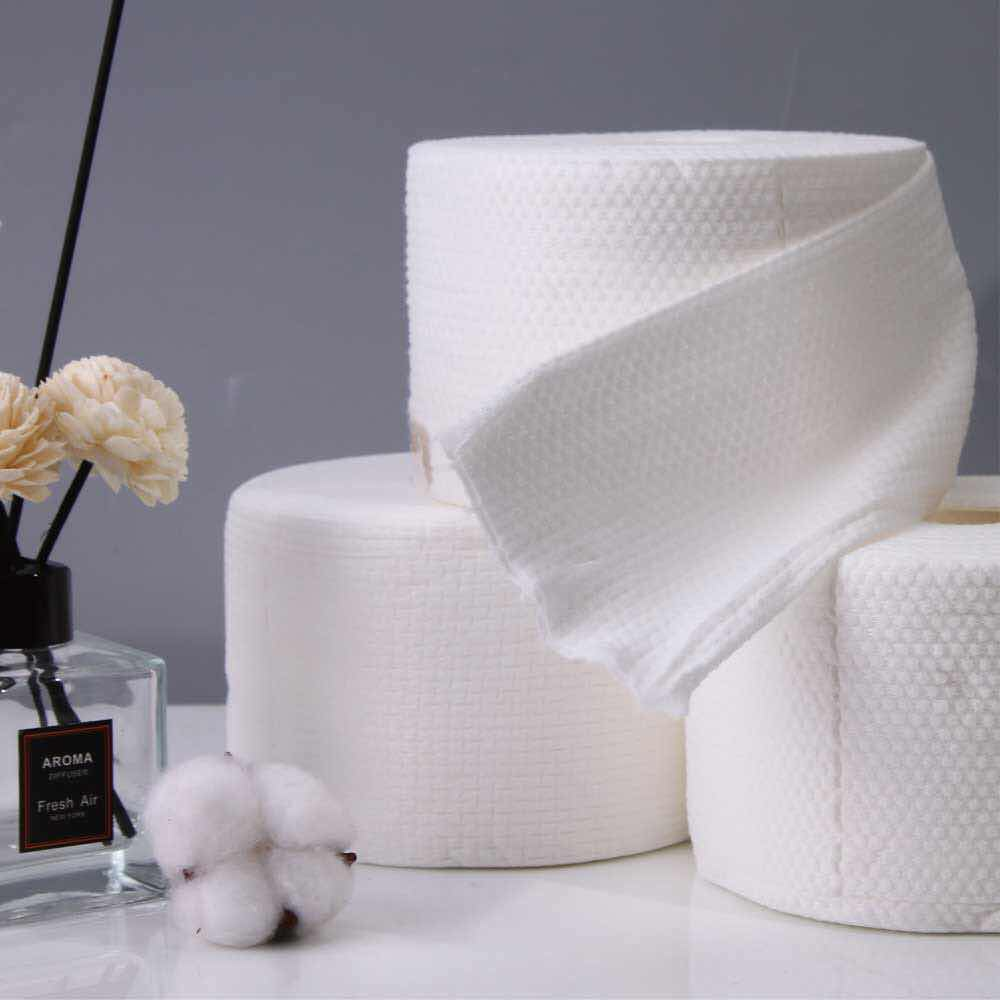 High quality disposable towel for spa face towel 100% cotton cosmetic tissue paper 65pcs
