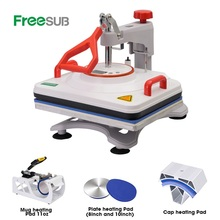 Freesub 5 In 1 Warmte Persmachine Multifunctionele <span class=keywords><strong>T-shirt</strong></span> Sublimatie Machine <span class=keywords><strong>T-shirt</strong></span> <span class=keywords><strong>Drukmachine</strong></span>