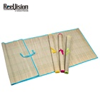 Outdoor Folding Natural Cheap Straw Beach Mat