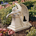 Custom-made white marble weeping angel Grave Monument / headstone / gravestone / tombstone