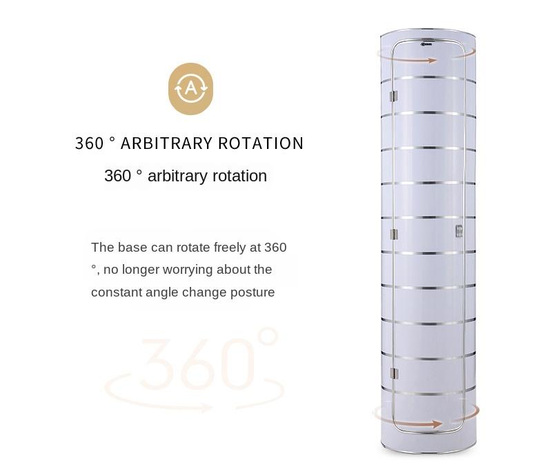 Large capacity creative 360-degree rotating shoe cabinet round shoe rack saving space