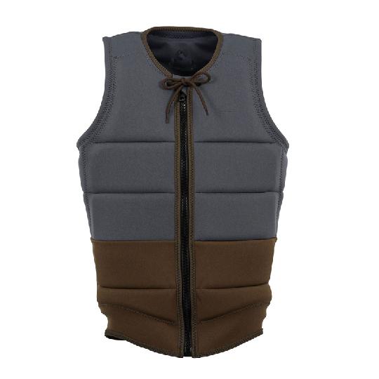 Customized portable surfing life jacket mens grey swim buoys life vest