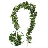 F-3308 Artificial Amazon Willow Eucalyptus Garland Leaves Wreath Wedding