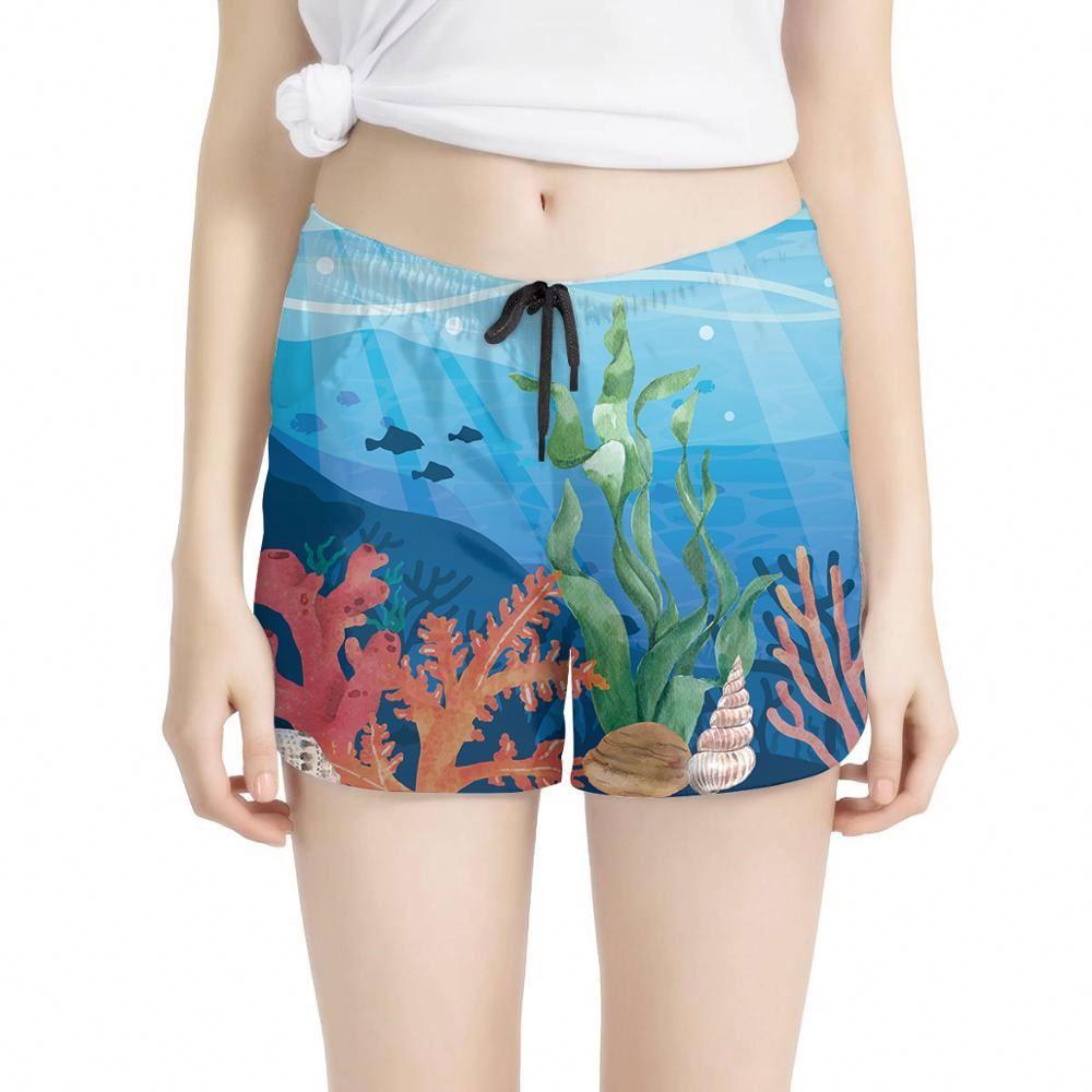 Personalizado De Playa De Verano Pantalones Cortos De Dibujos Animados Mundo Submarino De 2020 Mujeres De Pantalones Cortos De Carga Buy 2020 Pantalones Cortos Para Mujer Pantalones Cortos Cargo Para Mujer Pantalones Cortos