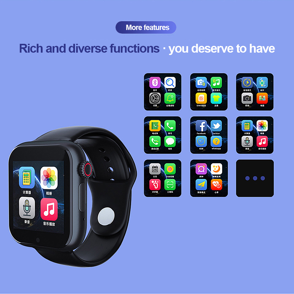 New Z6S Smart Alarm Heart Rate Monitor Touch Smart Watch Waterproof Smart Watch