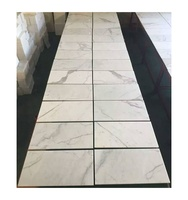 Free shipping Italian luxury polished popular wall white calacatta marble tile