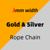 3mm_Gold & Silver_Rope