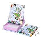 Diary with lock in photo frame box stationery gift customized hardcover notebook