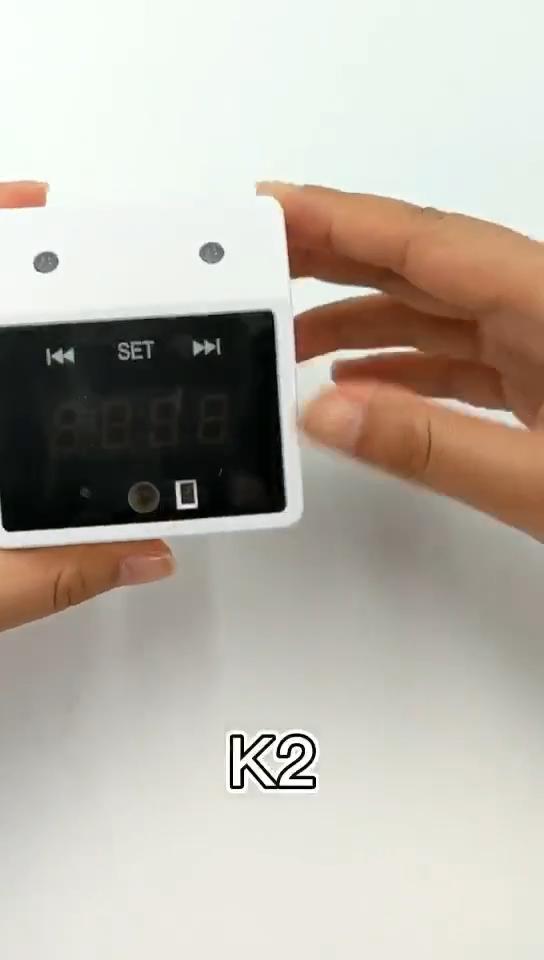 Función de Reloj portátil pequeño tamaño K2 manos libres montado en la pared Palm Detector de temperatura automático