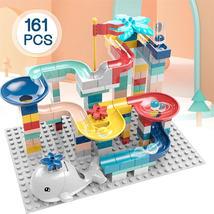 UKBOO-bloques de construcción de canicas para niños, juegos grandes de inteligencia, bloques de construcción, H102/H103/H104