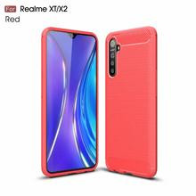 Fashion Carbon Fiber Soft Silicone Case Cover Voor <span class=keywords><strong>oppo</strong></span> realme XT/X2