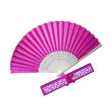 Цветочные вентиляторы, винтажная вышивка, китайский стиль, танец, свадьба, вечеринка, ручной вентилятор, кружево, шелк, складной веер с цвета...(Китай)