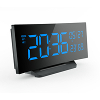 Desktop & wall mounted large digital display square LED clock