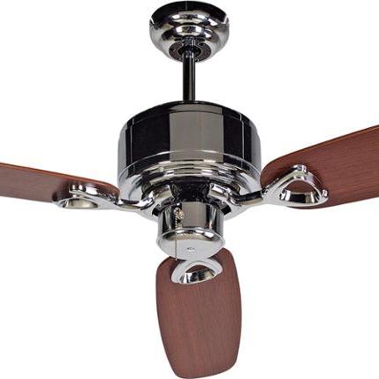 Ventilateur de plafond Retro de luxe avec la lumière et de contrôle de la chaîne de traction