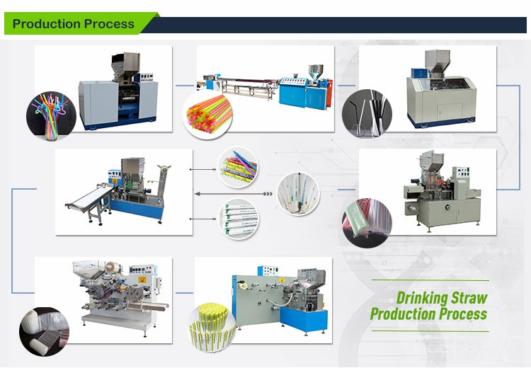 3kw/h straw machine for flexible bending artistic pla drinking straw