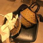 2020 summer new straw bag hand-stitched seaside vacation fashion Diamonds embellished woven vegetable basket sea grass bag