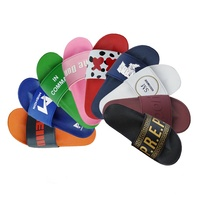 Summer PVC Sliders Slippers Custom Slide Sandal,Slides Footwear Slippers For Men,Custom Men'S Slides Slippers