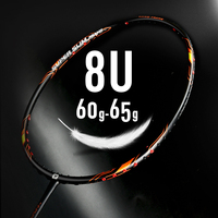 New Arrival WHIZZ top brand 8U ultra light weight 40T high modulus graphite quality professional badminton racket