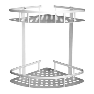 CHOTOO Bathroom Shelf (No Drilling) Basket Bathroom Corner Shelf Shower Caddy 2 Tiers Shower Shelf Kitchen Storage Basket