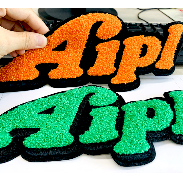 Custom Chenille Back Names Embroid Varsity Letter Patches